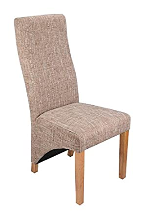 Pleasing Avon Single Fabric Dining Chair High Back Office Lounge Seat Tweed Beige Furniture Contemporary Modern Look New Creativecarmelina Interior Chair Design Creativecarmelinacom