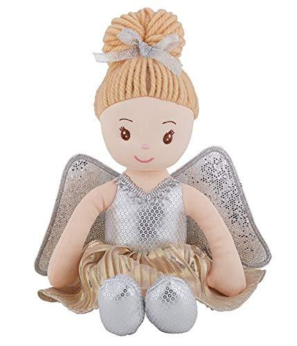 - Stephan Baby Silver Guardian Angel Plush Doll Nursery Ornament Keepsake