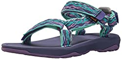 Teva Girls' Y Hurricane Xlt 2 Sport Sandal, Delmar Sea Glasspurple, 4 M Us Big Kid