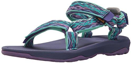 Price comparison product image Teva Girls' Y Hurricane XLT 2 Sport Sandal Delmar Sea Glass/Purple 4 M US Big Kid