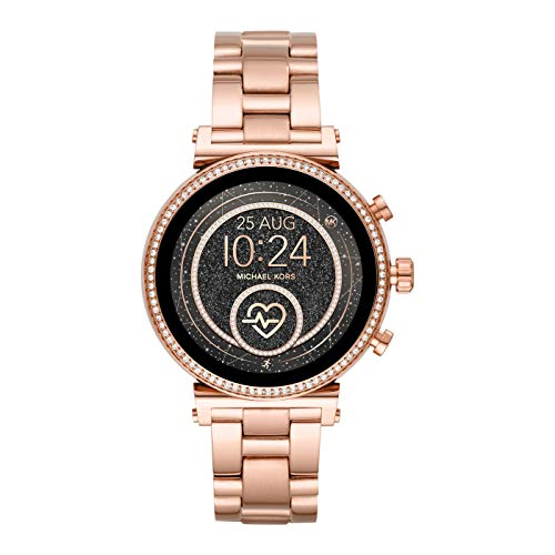 Michael Kors Smartwatch Pantalla táctil para Mujer de Connected con Correa en Acero Inoxidable MKT5063