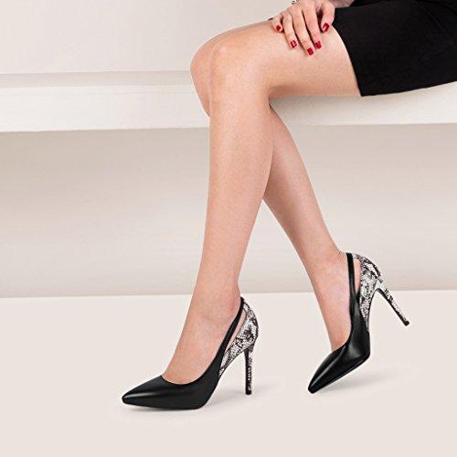 hauts talons Chaussures Rainbow taille 35 hauts Noir Neuf serpent Noir talons 5 Sandales Couleur Femme Noir à 2018 motifs cm à 9 de Chaussures à 7wZF55