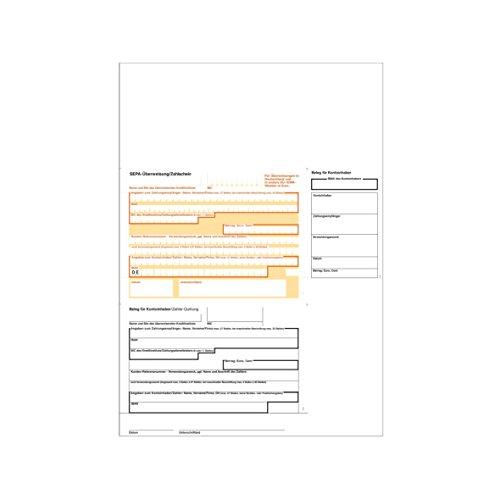 100 A4 SEPA-Überweisung/Zahlschein für Sigel Winbanking