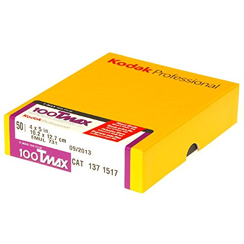Kodak 137 1517 Professional 100 Tmax Black and White Negative Film (ISO 100) 4x5 (50 sheets) (Yellow)