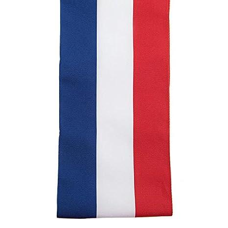 0e88a481db65 SANTEX 4058-0, Echarpe du Maire de 8 cm x 2 mètres, tricolore ...