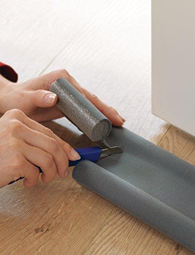 Zugluftstopper Tür Selber Machen tesamoll zugluftstopper für glatte böden in grau zuschneidbare