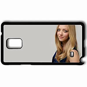 Personalized Samsung Note 4 Cell phone Case/Cover Skin Amanda Seyfried Blonde Dress Hairstyle Photoshoot Black