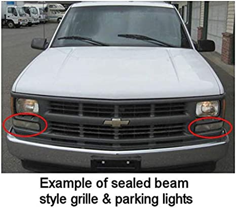 Parking Turn Signal Corner Lights Pair Set for Chevy GMC C//K Pickup Truck