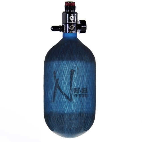 Ninja Carbon Fiber HPA Tank - 68/4500 - Translucent Blue by Ninja Paintball