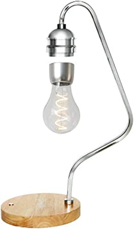 YONGMEI Lámpara de Mesa LED de levitación magnética - Bombilla Flotante - de Carga inalámbrica táctil luz de la Noche, decoración de Interior Lámpara de Mesa (Color : B): Amazon.es: Hogar