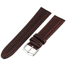 Hadley-Roma Men's MSM882RB-200 20mm Brown Genuine Oil-Tan Leather Watch Strap