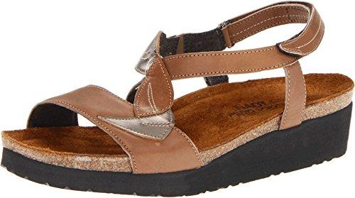 Naot Women's Tan Brown/Pewter/Chestnut Caroline 38 M EU (Naot Shoes Sandals)