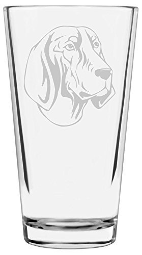 Bluetick Coonhound Dog Themed Etched All Purpose 16oz Libbey Pint Glass