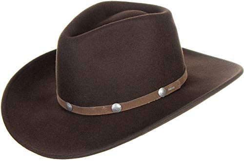 Men's Tahoe Wool Crushable Stetson Hat, CORDOVA, Size MEDIUM