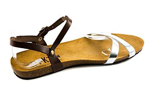 Femme pour Sandales 199 Marron PL1 PLAKTON Marron qwzFx1FH