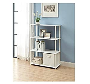 No Tools 6 Cube Storage Shelf White Easy To Assemble And Great To Hold Housing