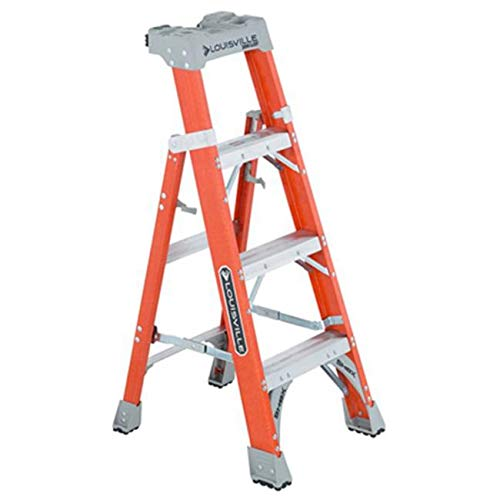 FastTackle 4 ft. 2 in 1 Cross Step Ladder