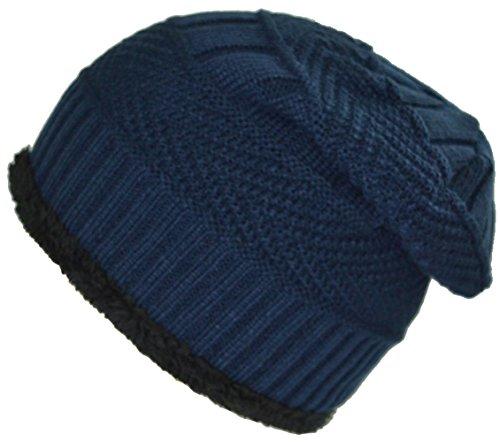 hombres azul BaronHong caliente Daily gorrito los cráneo sombrero terciopelo de para oscuro Slouchy CpwqvO