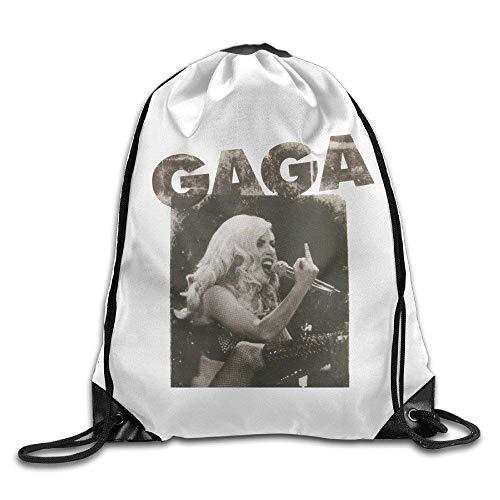 BiXiShop Lady Gaga Middle Finger Drawstring Backpack Cool Sports String Bag
