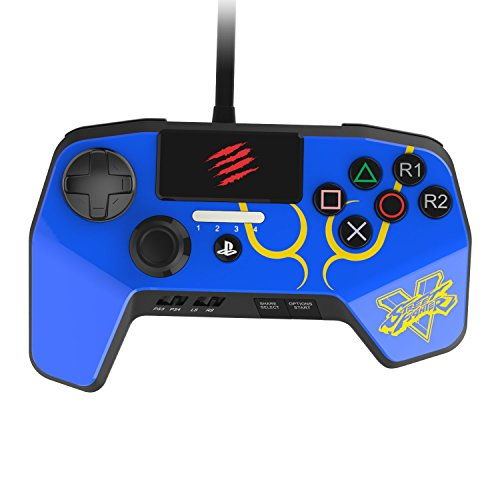 New Improved D-Pad - Mad Catz Street Fighter V FightPad PRO for PlayStation4 and PlayStation3 - Blue - PlayStation 4 - Mad Catz Playstation