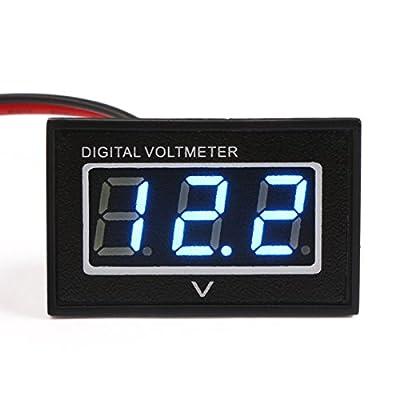 DROK Voltmeter Ammeter Volt Amp Multimeter DC 4.5-30V 100A Voltage Currenr Monitor Ampere Testing Gauge V/A Panel Meter Red/Blue Dual LED with Current Shunt Car Auto Motocycle Battery Power