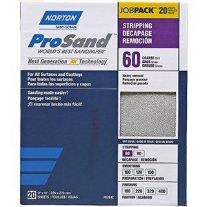 Norton Abrasives Norton 68175 9'' x 11'' 60 Prosand Sheet 20Pk - 10ct. Case