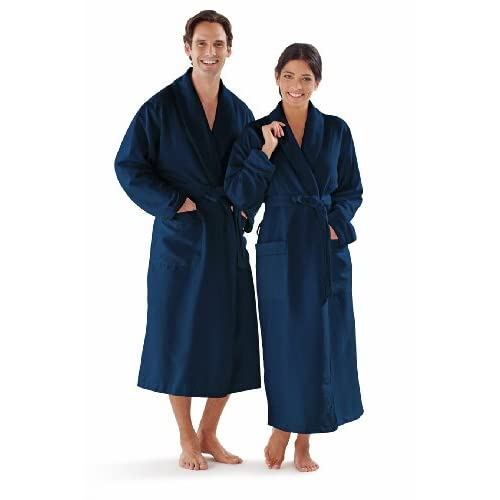 Boca Terry Womens and Mens Robe,...