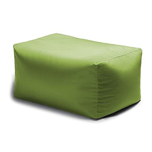 Jaxx Leon Outdoor Bean Bag Patio Ottoman, Lime (Leon's Outdoor Furniture)