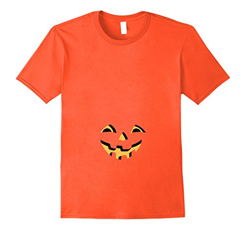 Halloween Pregnant Belly (Mens Pregnant Pumpkin Halloween T for Maternity and Beer Bellies 2XL Orange)