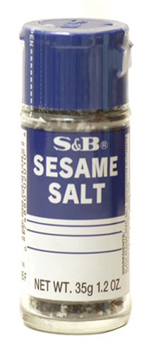 S&B Sesame Salt, 1.2-Ounce Bottle (Pack of 5)