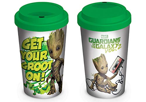Official Boxed Ceramic Coffee//Tea Mug Get Your Groot On 2 Multi-Colour Paper 12 x 12 x 1.3 cm Pyramid International Guardians of The Galaxy Vol