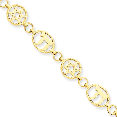 14k Yellow Gold Chai and Star