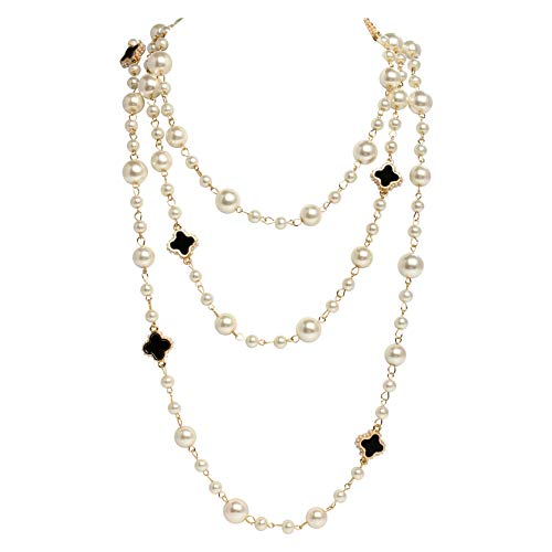 MISASHA Gold Plated Faux Pearl Chain Pearl -