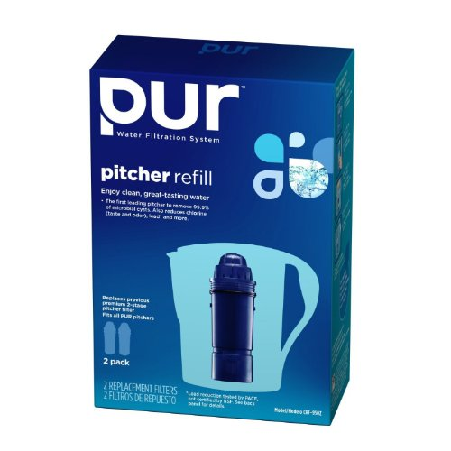 PUR 2-Stage Water Pitcher Replacement Filter, Value Pkg 8-ct