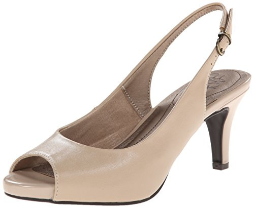 (LifeStride Women's Teller Dress Pump, Taupe, 6.5 M US)