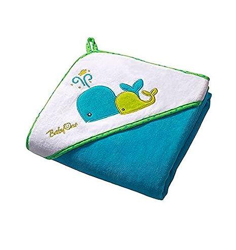 Baby Kind Kapuzenbadetuch 100x100 cm GROSS und SUPERWEICH, Badetuch, Strandtuch, duschtuch, Handtuch (blau) Babyono