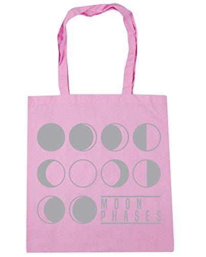 42cm Shopping x38cm Tote Moon Classic Beach litres 10 Bag Pink Gym Phases HippoWarehouse q86axtw0x