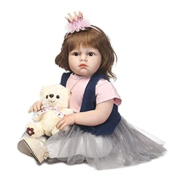 Toys & Hobbies Intelligent 24 Silicone Reborn Baby Doll Toys Like Real Vinyl Handmade Lovely Princess Toddler Babies Dolls Girls Bonecas Toys