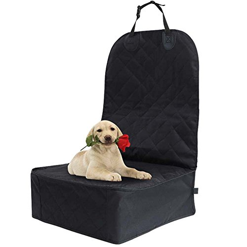 Durable Snaps Front (Lenmumu Car Pet Seat Cover with Seat Anchors, Soft Car Dog Seat Covers for Pets Waterproof Scratch Proof Nonslip Durable Front/Back Seat Protector for Cars Trucks and SUVs (Front Seat Cover))