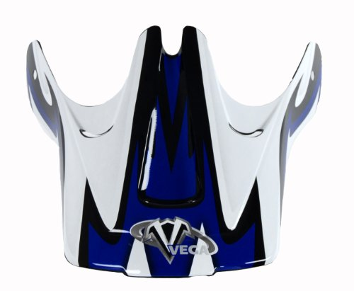 Vega Viper Junior Off-Road Helmet Visor with Volt Graphic (Blue)