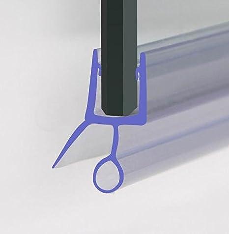 HNNHOME - Junta selladora de goma para mampara de ducha, para puerta de cristal recta o curvada de 4-6 mm, con separación de 5 a 10 mm: Amazon.es: Juguetes y juegos