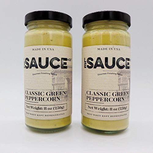 Le Sauce Gourmet Classic Green Peppercorn Finishing Sauce, great on steak, fillet, pork chops, vegetables, foodie verified ()