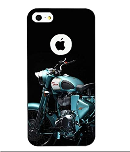 Snazzy Bike Printed Blue Hard Back Cover For Apple Iphone 5/5S