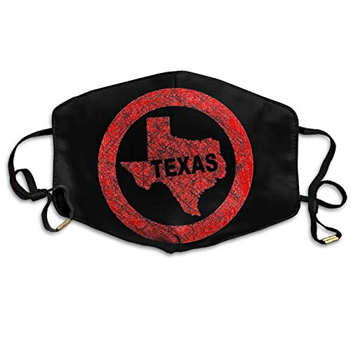 Texas Map Stamp Reusable Anti-dust Mouth-Muffle Anti Pollution Mouth Mask Pollution Flu Pollenm Germs Bacteria Virus