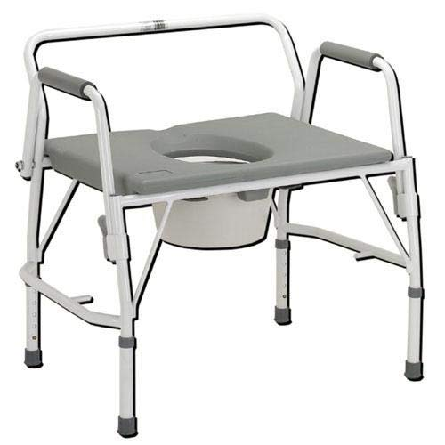 Complete Medical Bariatric Drop-Arm Commode Deluxe Assembled from Complete Medical