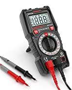 KAIWEETS Digital Multimeter with NCV, Volt Meter, Measures AC/DC Current, Voltage, Resistance, Diodes, Continuity, Electrical Battery Tester, Dual Fused for Anti-Burn (Built-in Flashlight)