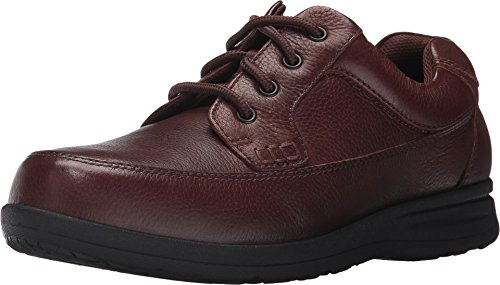 Nunn Bush  Men's Cam Moc Toe Oxford Brown Tumbled Leather Oxford