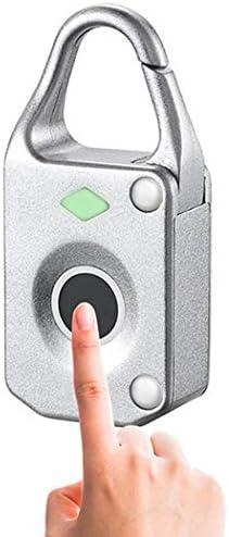 スマート指紋ボックスロック電子自動Nokelock指紋引き出しロックキットロック指紋南京錠10指紋 (Color : Pink, Size : 6*2.3*2.3cm)