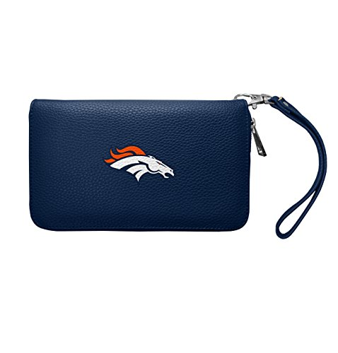 Denver Embossed Wallet - NFL Denver Broncos Zip Organizer Pebble Wallet