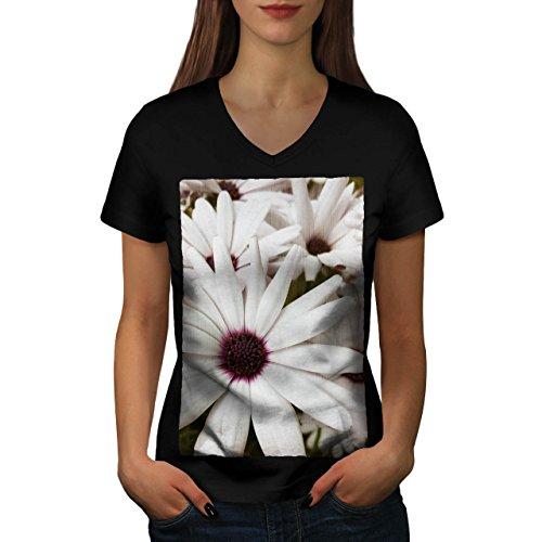 Camomile Blossom Flower Beauty Women NEW S V-Neck T-shirt | Wellcoda
